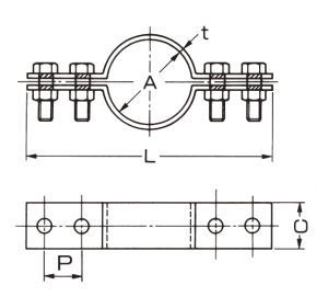 akagi corporation product guide floor band for cast-iron pipe (cast-iron  drain pipe)
